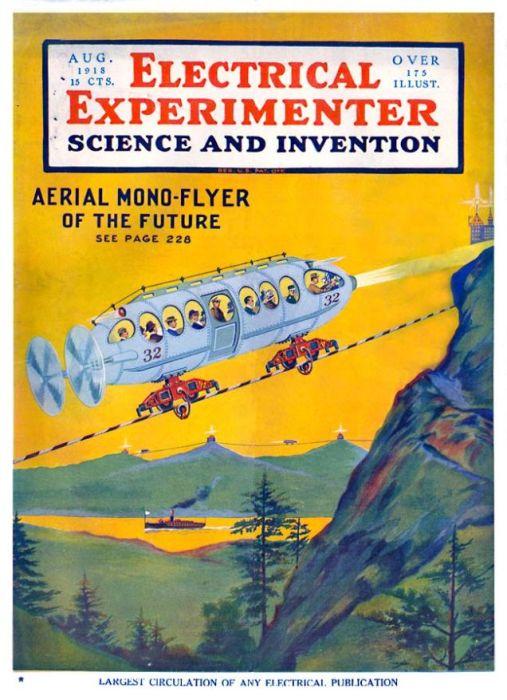 Обложка журнала Electrical Experimenter, 1918 год. | Фото: blog.picosocreative.com.