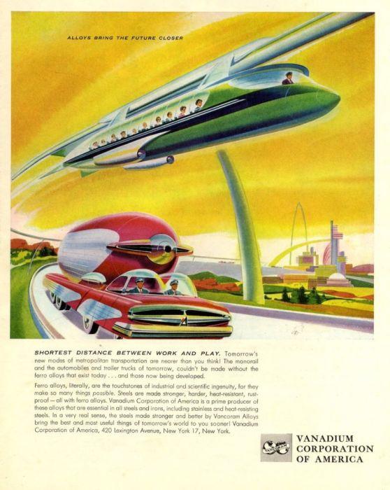 «Новые сплавы приближают будущее», 1958 год. | Фото: myconfinedspace.com.