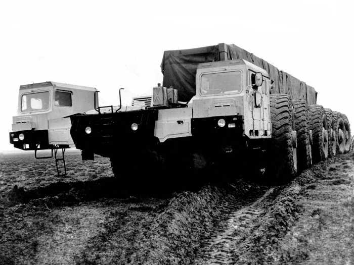 Секретное шестиосное шасси МАЗ-7904. | Фото: i.wheelsage.org.