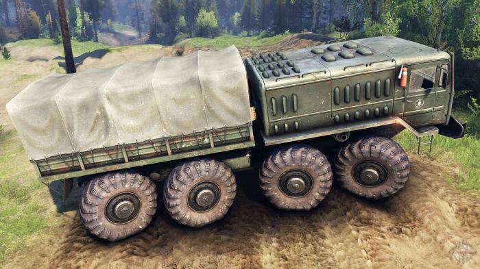 Так выглядел первый белорусский 8-колесный грузовик МАЗ-535.