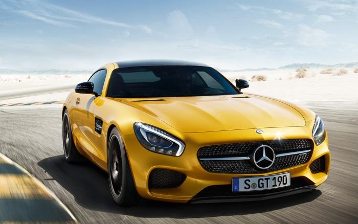 Mercedes-AMG GT в желтом цвете. | Фото: topgir.com.ua.