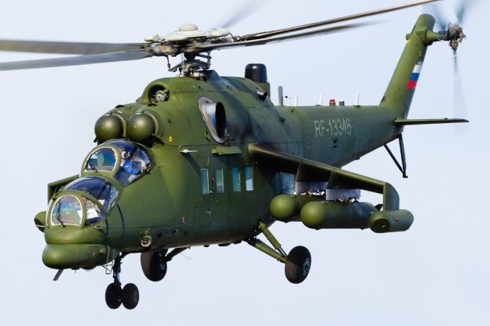 Российский вертолет Ми-35 получил немало обновлений в сравнении с Ми-24. | Фото: vimpel-v.com.