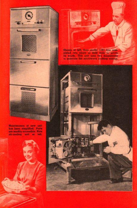 Реклама микроволновой печи, 1955 год.