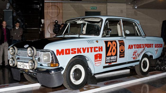 Москвич-412 на ралли Лондон-Мехико 1970 года.