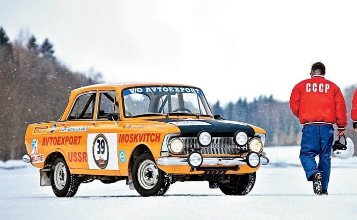 Раллийный Москвич-412 команды «Автоэкспорт».