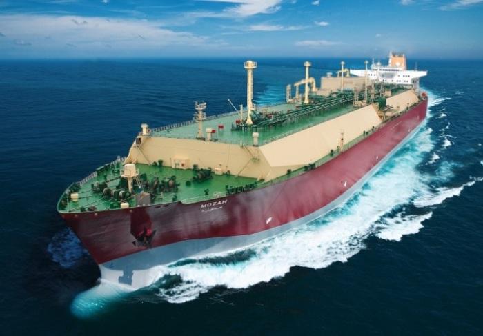 Катарский танкер Mozah для перевозки сжиженного газа. | Фото: maritime-connector.com.