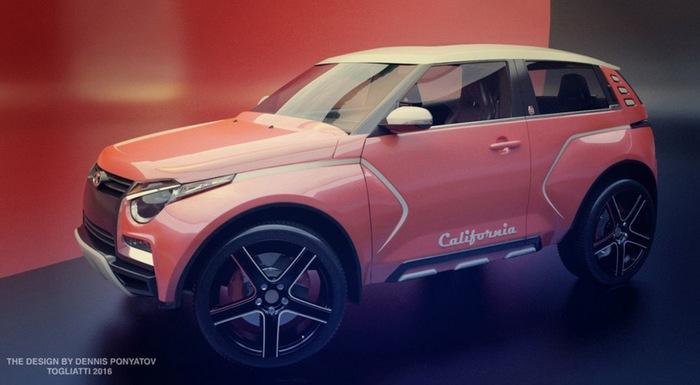 В машине угадываются черты «Нивы», Lada Xray и Renault Duster. | Фото: 2drive.ru.