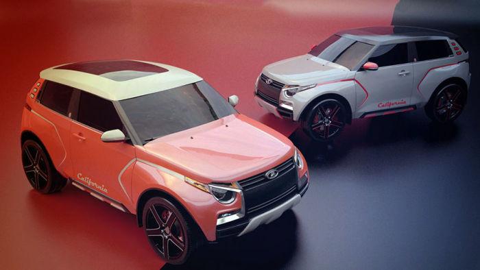 Lada California – концептуальный вариант новой «Нивы». | Фото: autocentre.ua.
