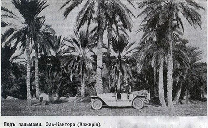 «Руссо-Балт» Нагеля на фоне алжирских пальм. | Фото: imperialmodels.ru.