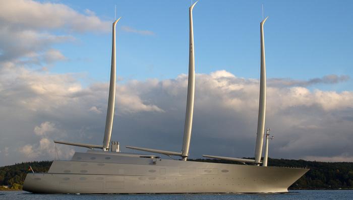 Морской полифем - парусная яхта «А» для российского олигарха.