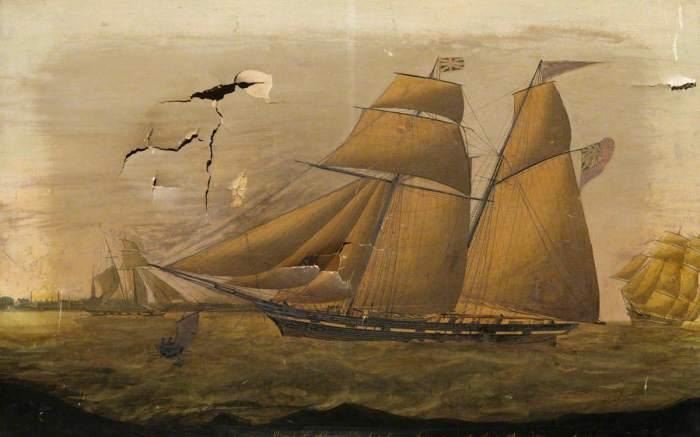 Британская шхуна XIX века. | Фото: artuk.org.