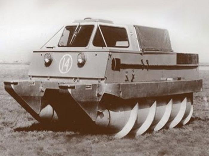 Шнекоход ЗиЛ-2906 задействовался в советской космической программе.   Фото: drive2.ru.