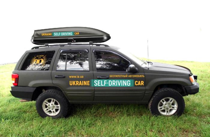 Кроме «Ланоса», беспилотная система Pilotdrive испытывалась на внедорожнике Jeep Cherokee. | Фото: autonews.autoua.net.