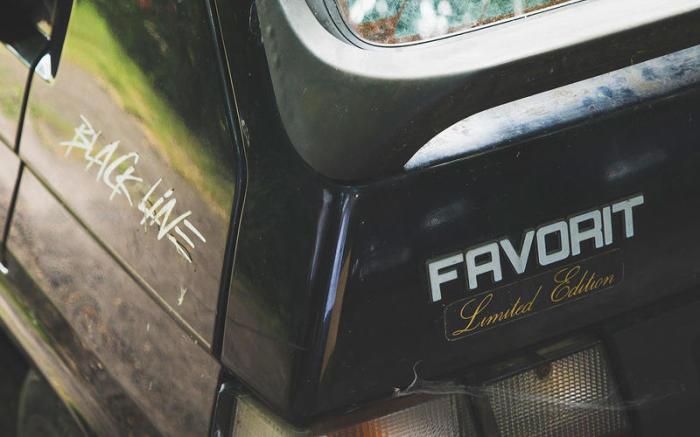 Специальная версия Skoda Favorit. | Фото: autocar.co.uk.