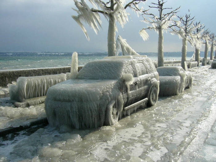 И такое бывает зимой. | Фото: gigazine.net.
