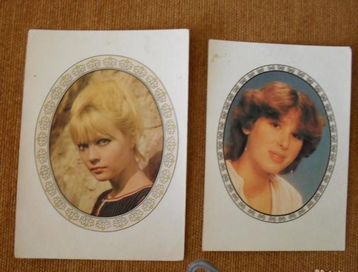 Переводные картинки с портретами известных женщин. | Фото: drive2.ru.