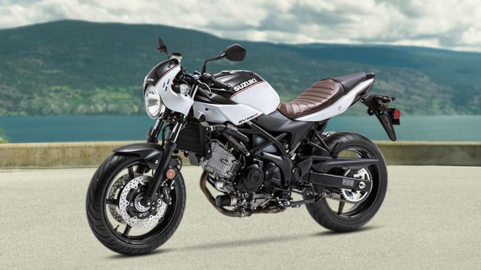 Японский мотоцикл Suzuki SV650X в новой цветовой схеме Glacier White. | Фото: topspeed.com.