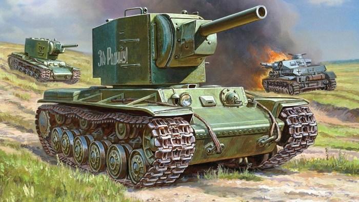 Тяжелый советский танк КВ-2 с орудием калибра 152 мм. | Фото: youtube.com.