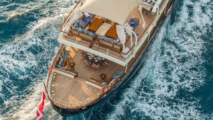 Роскошные палубы яхты Taransay.