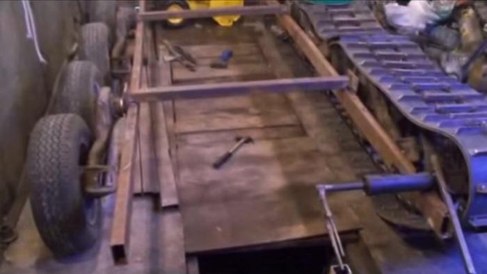 Самодельная ходовая для «Таврии». | Фото: youtube.com.