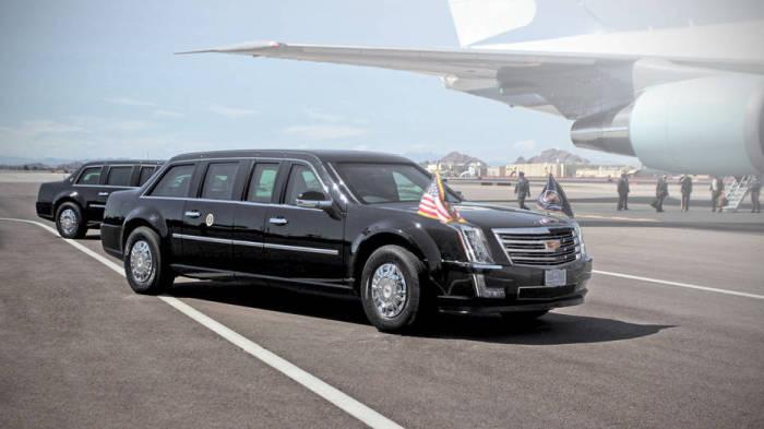 Новый лимузин 45-го Президента США Дональда Трампа.
