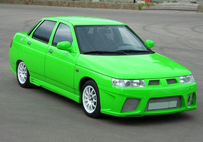 Салатовый ВАЗ-2110. | Фото: reclams.blogspot.com.