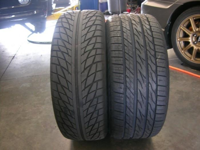 Автомобильные шины различных типов. | Фото: cheatsheet.com.