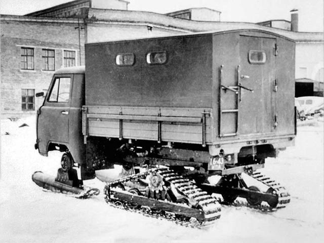 Ульяновский снегоход УАЗ-451С, 1962 год. | Фото: autowp.ru.