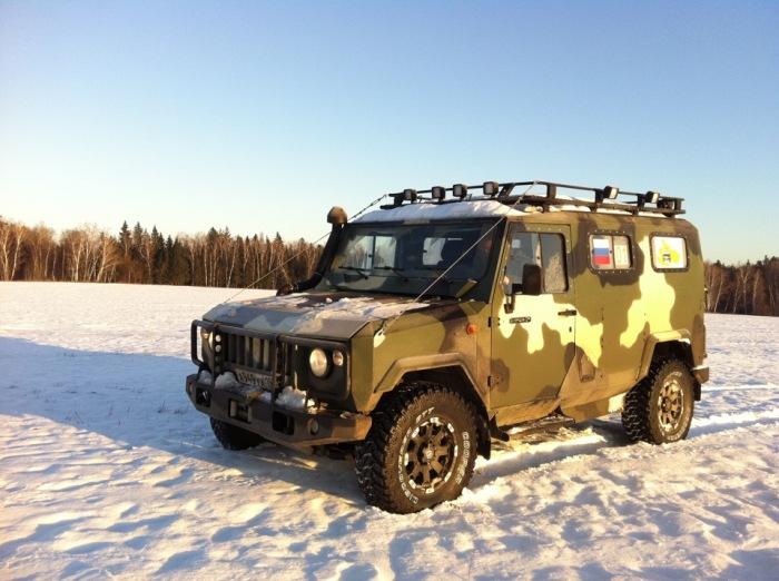 УАЗ Скорпион-2М – гражданская версия бронированной машины. | Фото: drive2.ru.