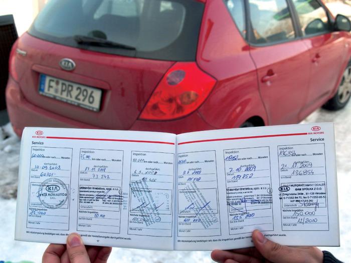 Отметки о проведенном обслуживании автомобиля. | Фото: prosedan.ru.