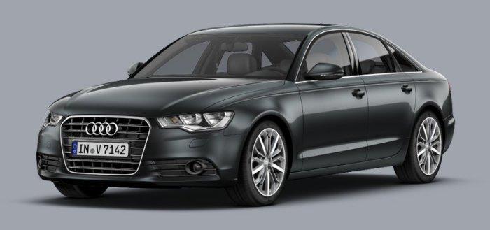 Популярный немецкий седан Audi A6.