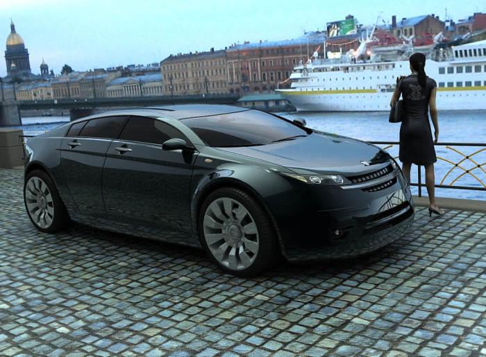 Дизайнерский проект GAZ 5000 GL. | Фото: 2drive.ru.