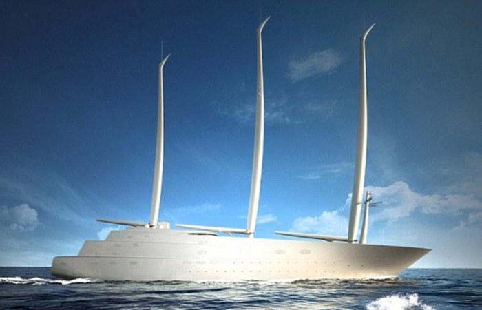 Самая большая в мире парусная яхта российского олигарха.