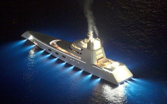 Яхта «А» с невероятным дизайном от Филиппа Старка.