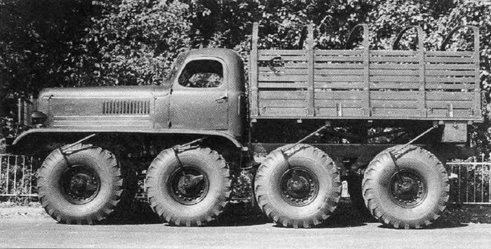 Экспериментальный грузовик высокой проходимости ЗИС-Э134.