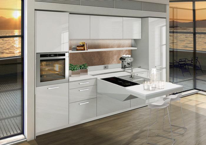 Мини-кухни отличаются высокой функциональностью.