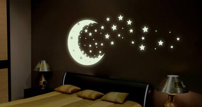 Вариант окраски стен для детской или спальни.