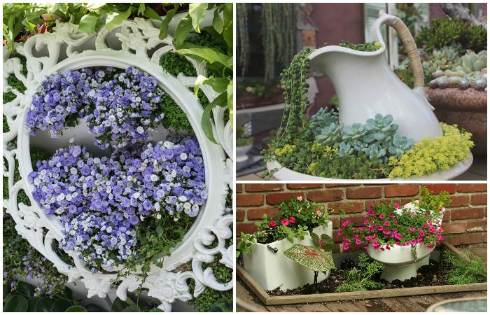Как украсить ящик для цветов