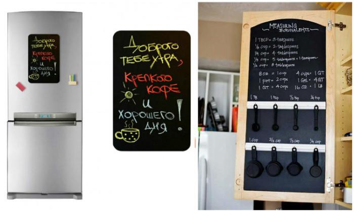 Школьная доска на кухне.