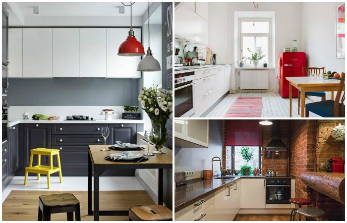 Идеи для интерьера маленькой кухни.