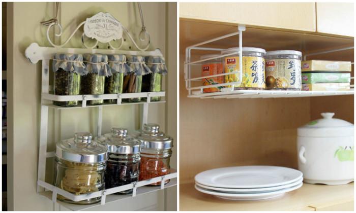 Функциональные подвесные системы хранения для кухни.