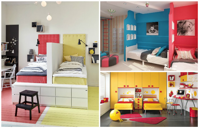 Идеи для общей детской комнаты.