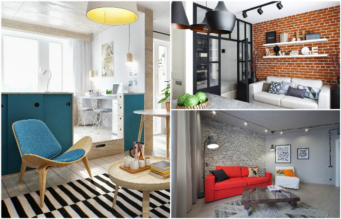 Идеи для однокомнатной квартиры.