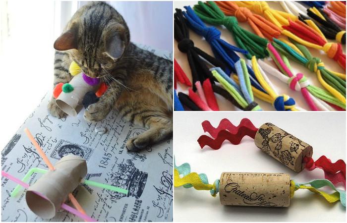 Игрушки для котов своими руками.