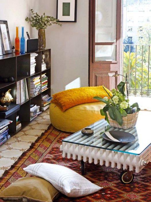 Мебель из металлического радиатора.