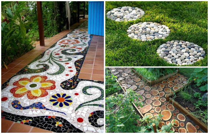 Идеи для красивых садовых дорожек.