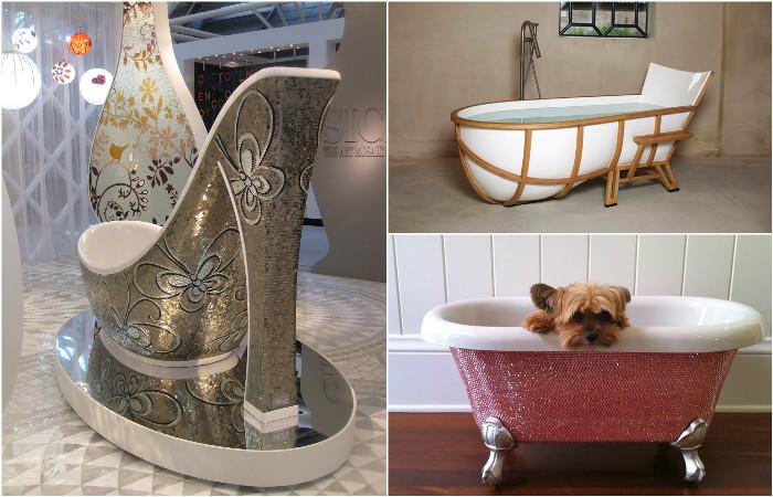 Самые необычные дизайнерские ванны.