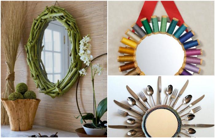 Идеи для декора зеркал.