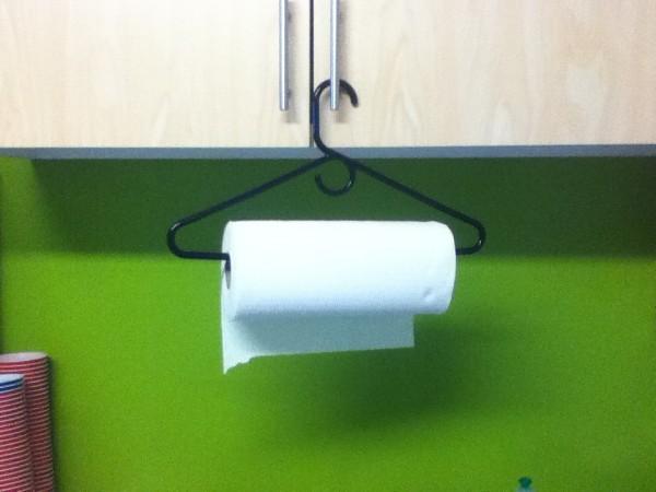 Хранение бумажных полотенец.
