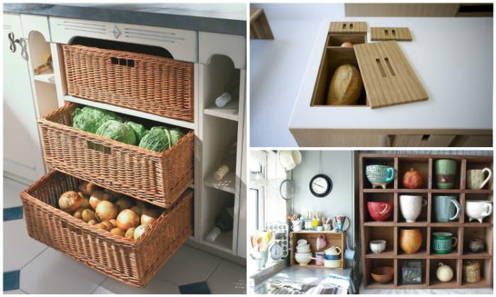 Идеи хранения на кухне.